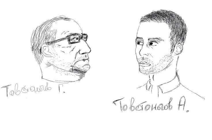 Tovstonogov: grandpa and grandson. Author: Oleg Petrenko