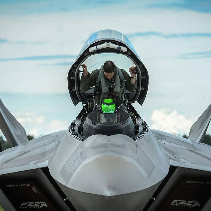 An F-22 pilot from the 95th Fighter Squadron based out of Tyndall Air Force Base…