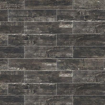 Ragno Railwood Weathered Black Color Body Porcelain Floor