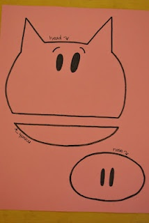 three little birds: Elephant and Piggie Party. Piggie puppet