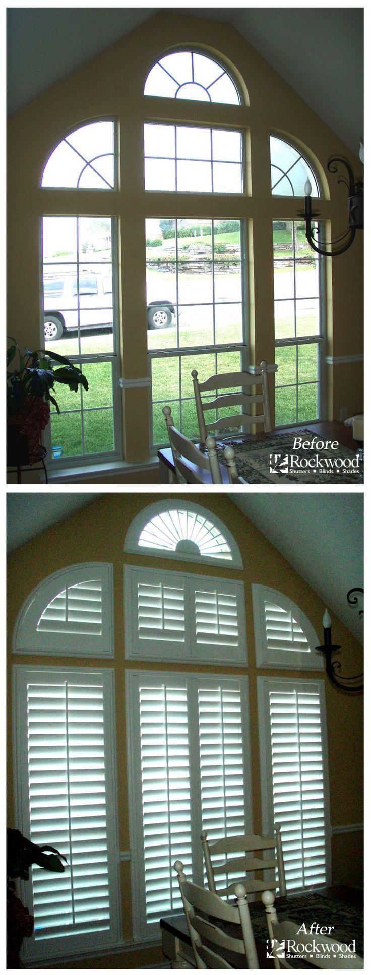 17 best images about shutters on pinterest plantation for Shutter window treatment ideas