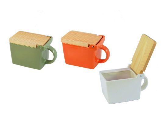 Colorful salt boxes