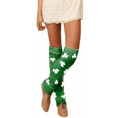 St. Patrick's Day Shamrock Leg Warmers