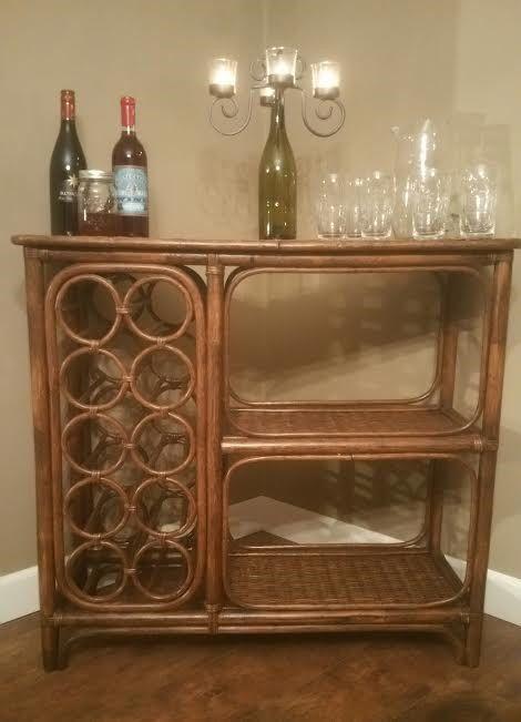 Bar - Wicker Bar - Rattan Bar - Vintage Bar - Mid Century Bar - Bamboo Bar - Wine Rack Table - Wine Bar - Wine Rack - Bamboo Wine Rack by MyHailiesHaven on Etsy https://www.etsy.com/listing/503241089/bar-wicker-bar-rattan-bar-vintage-bar