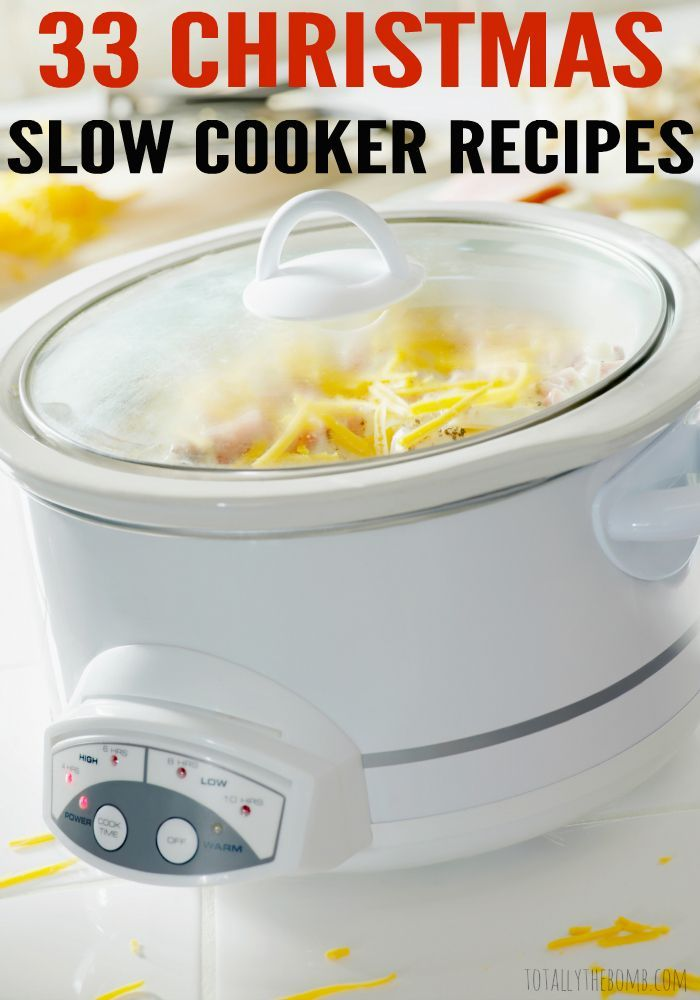 These 33 Christmas Slow Cooker Recipes will free up time for you to spend with…
