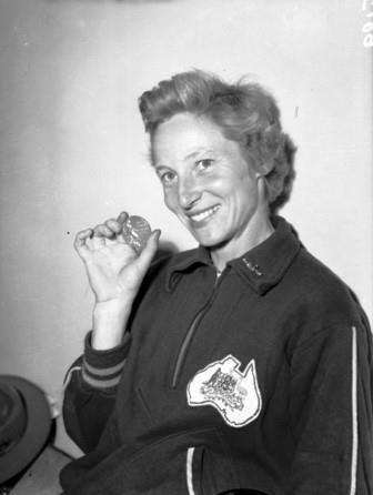 Shirley Strickland won the 80 metres hurdles at the 1956 Olympic Games in Melbourne