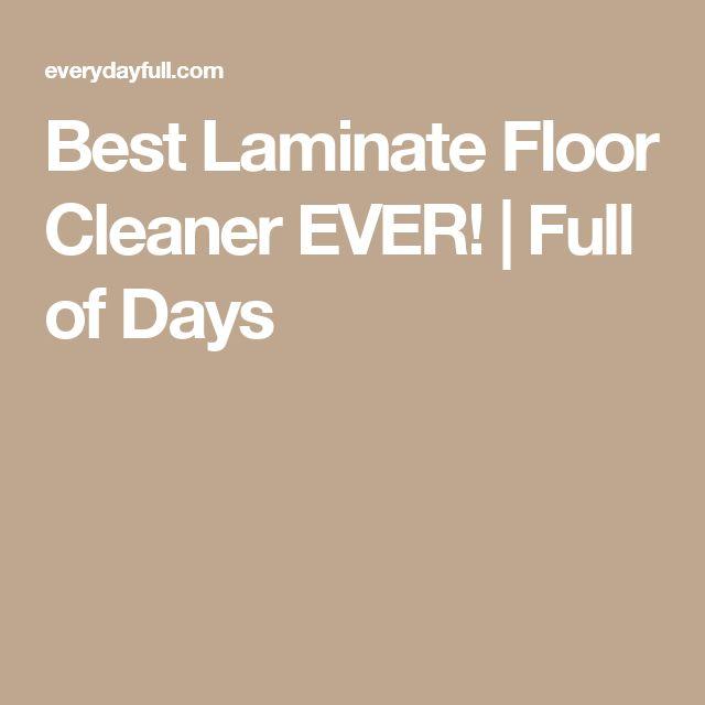 best laminate floor cleaner ever