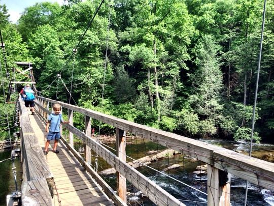 Toccoa River Swinging Bridge - Blue Ridge, GA - Kid friendly activi... - Trekaroo my lanta hope ms lily on here would scare me!!!
