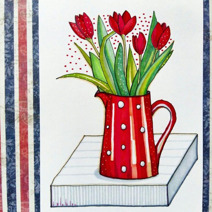 #цветы #маркеры #скетч #рисунок