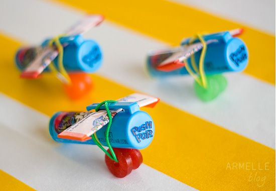 Cute airplane made out of candy (great party favor or treat for kids)