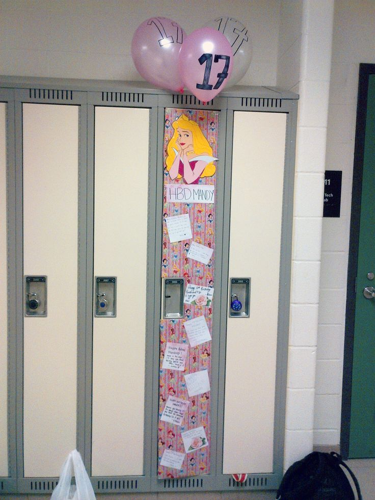 Birthday Locker High School Girl Did this for my friends 17th birthday ...