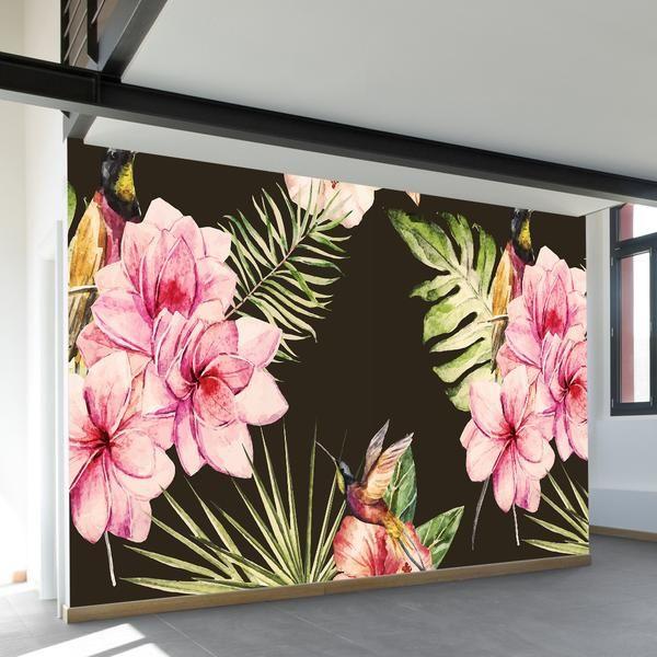 Plentiful Plumeria Wall Mural Mural Wall Murals Pink Walls