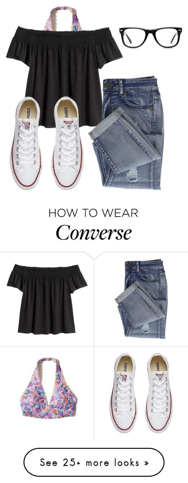 """{Philippians 4:6} "" by emi-elephant on Polyvore featuring Hollister Co., Converse and Muse"