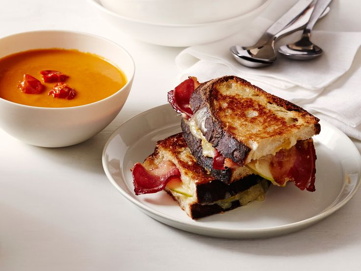 Grilled Cheese with Apple and Bacon Recipe : Tyler Florence : Food Network - FoodNetwork.com