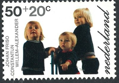 Stamp, Willem Alexander, Constantijn and Johan Friso, sons of queen Beatrix and prince Claus