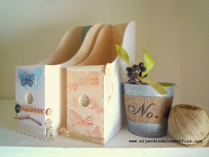 El jardín de los Muffins #diariodeco8 #DIY revistero