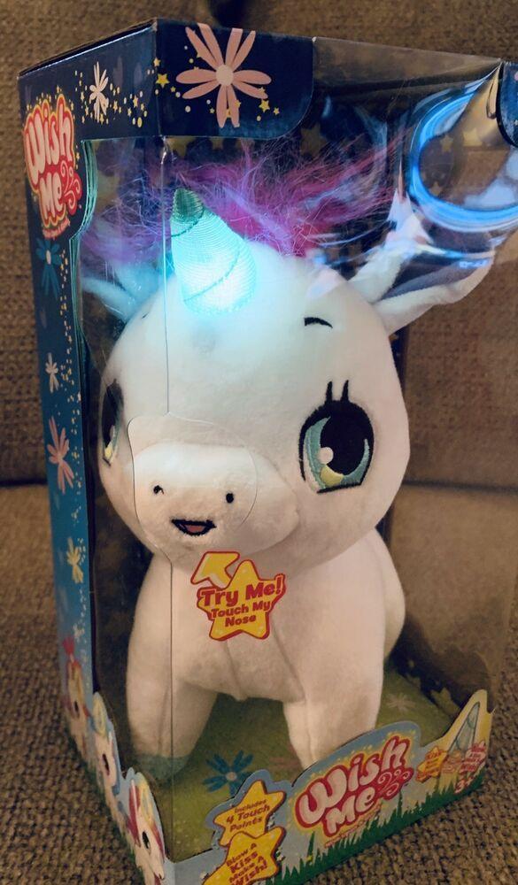 Wish Me Unicorn Pink And White Plush Lights Sounds Kids Stuffed Toy Puppy 818937022329 Ebay Plush Stuffed