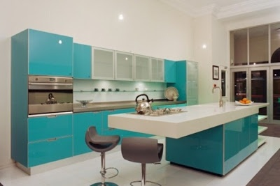 Cocinas en color turquesa colores for D kitchen andheri east