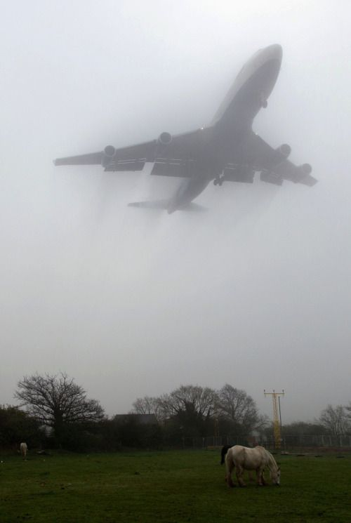Boeing in the fog