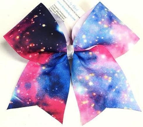 Bows by April - Galaxy Ribbon Cheer Bow, $6.00 (http://www.bowsbyapril.com/galaxy-ribbon-cheer-bow/)