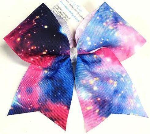Bows by April - Galaxy Ribbon Cheer Bow, $6.00 (http://www.bowsbyapril.com/galaxy-ribbon-cheer-bow/)