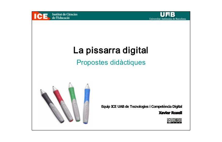 La Pissarra Digital: Propostes didàctiques