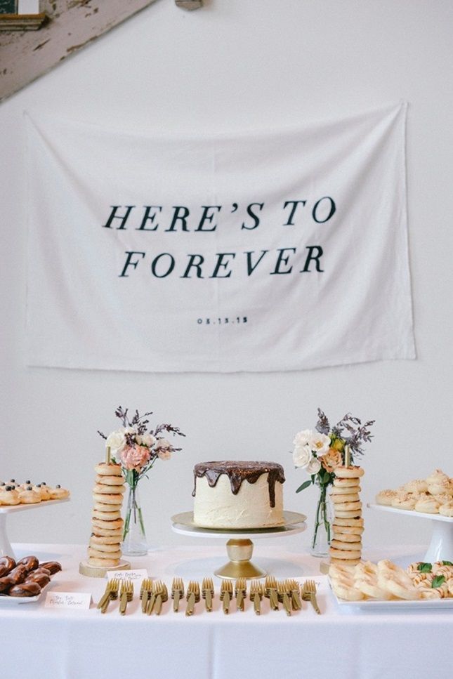Here's to forever. And this modern, minimalist look.