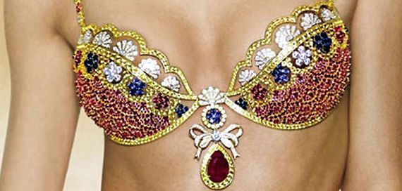 Diamond, gold, ruby studded worlds' most expensive bra costs Rs 61.1 cr! (see pics)