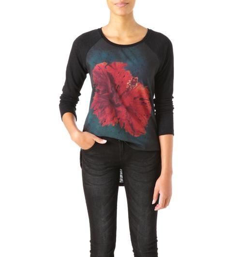 T-shirt+bi-matière+Femme Promod Pour Charlotte Taille L