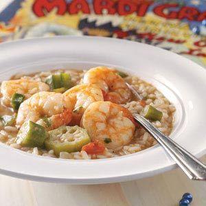 Shrimp Gumbo Recipe from Taste of Home  #Mardi_Gras