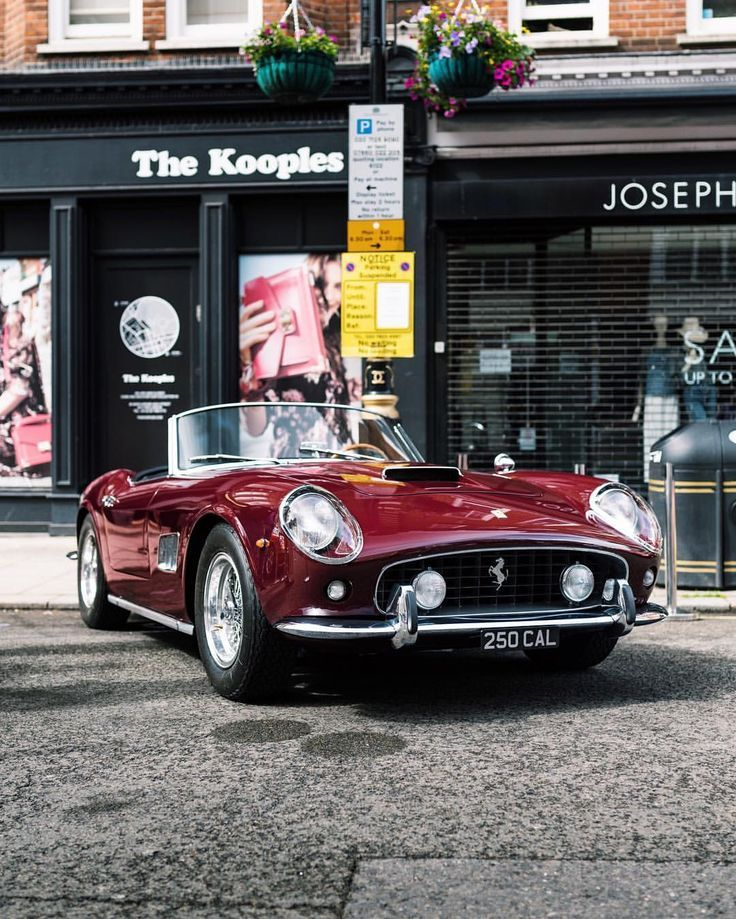 Perfect Color and Perfect Plate #Ferrari # 250California # 250california #far …