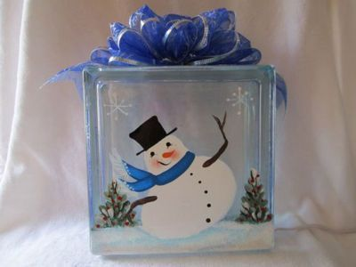 Glass Block Decorations Crafts Pinterest