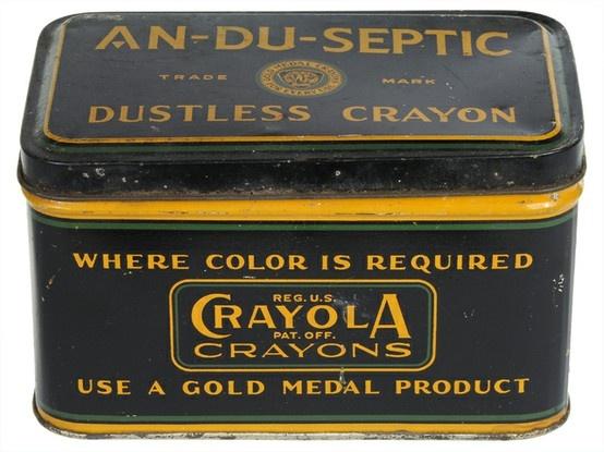 1930's Crayola Tin Box