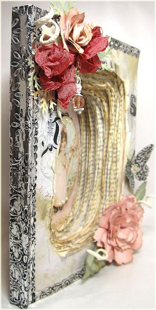 Altered book ~ this is so pretty!