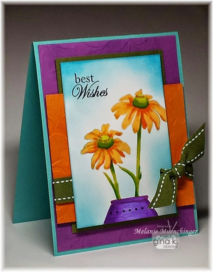 Card Making Ideas Gina K Part - 20: Stately Flowers 9 Stamp Set And Card By Melanie Muenchinger For Gina K.  Designs.