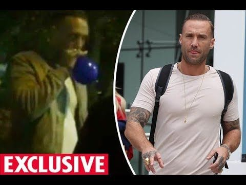 Calum Best CAUGHT on camera inhaling BANNED 'hippy crack' from balloon