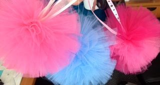 Tulle Pom Pom Balls for sale on www.facebook.com/binkys9