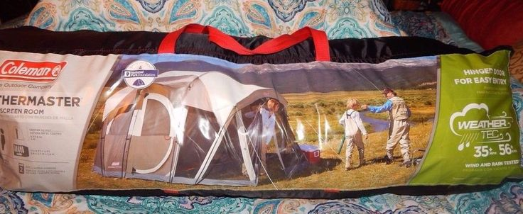 Coleman WeatherMaster 6-Person Screened Tent - Tan W/Screen Room LN Used twice #Coleman #tentwscreenroom