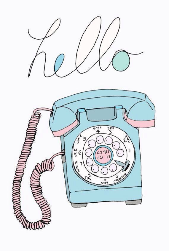 Blue cute colorful phone