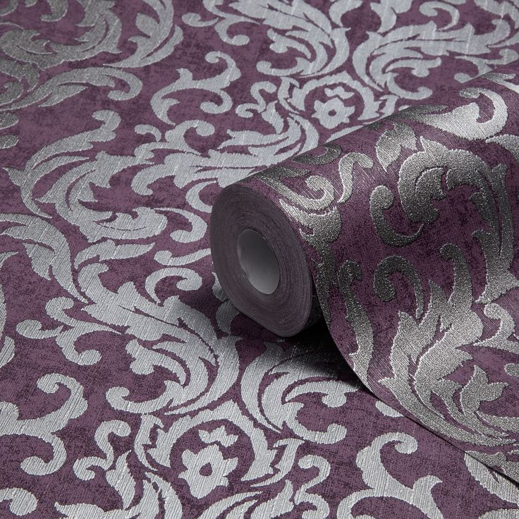 Graham U0026 Brown Drama Purple Damask Metallic Wallpaper Part 86