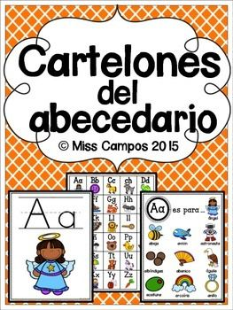 Cartelones para la enseñanza del abecedario. Se incluye 2 estilos para cada letra del alfabeto para un gran total de 65 paginas. Se incluyen los digrafos: ch y ll. Se incluye una pagina para la c suave y la g suave en cada estilo.