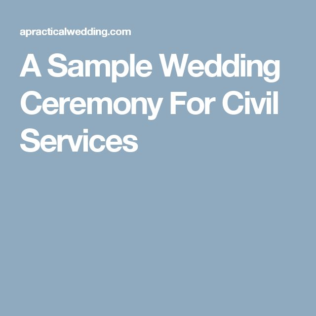 A Sample Wedding Ceremony For Civil Services