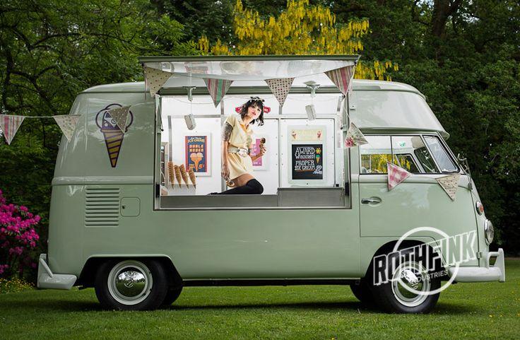 Who Needs Candy... when you can have Ice Cream!!!  Kombi Ice Cream Van Volkswagen VW