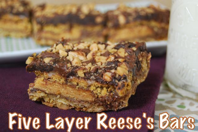 Five Layer Reese Bars from @leangreenbean #fitfluential