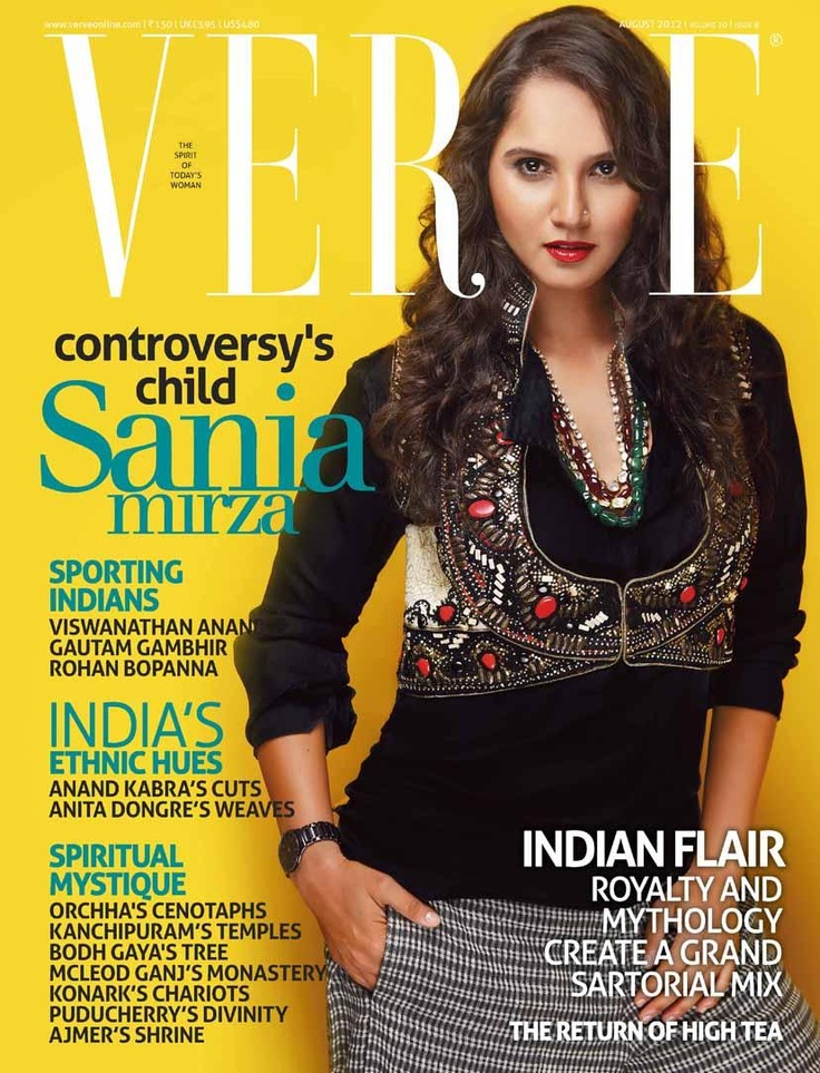 Sania Mirza on The Cover of Verve Magazine. | Bollywood Cleavage