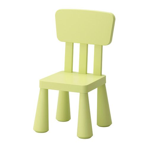 IKEA - MAMMUT, Children's chair, , Suitable for indoor and outdoor use. Made of plastic which makes it easy for children to carry and move.
