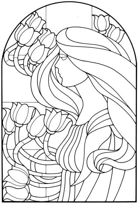 Tiffany Stained Glass Pages Coloring Pages