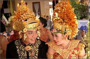 Bali traditional wedding costume