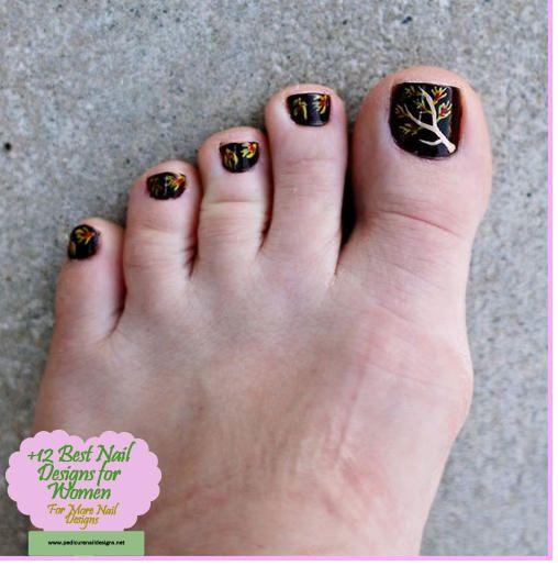 Cool Amazing Fall Autumn Toe,Nail Art Designs Ideas 2019