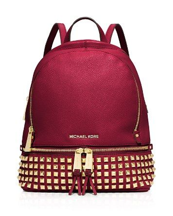 MICHAEL Michael Kors Small Rhea Zip Studded Backpack  Love this bag #queenofbackpacks